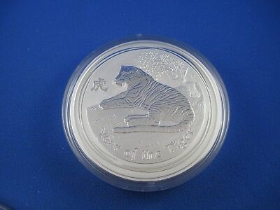 "2010 Silver LUNAR  ""YEAR OF THE TIGER"" KILO specimen. Exceptional Perth Mint"