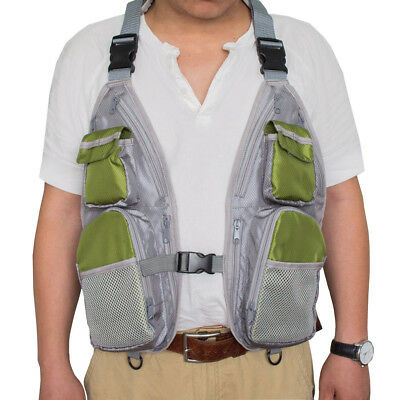 Outdoor Fly Fishing Vest Hunting Photography Summer Breathable Multi Pockets