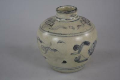 ANTIQUE CHINESE MING 15th Century SHIPWRECK PATTERNED JAR