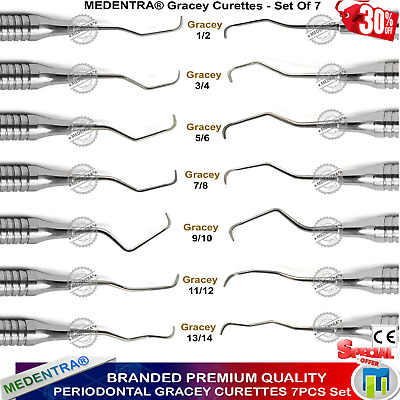 Perio Gracey Curettes for Root Canal Procedure Periodontal Dental Lab VET