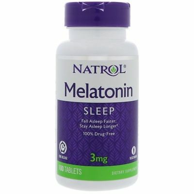 Vegetarian tablets Natrol  STRESS RELIEF SLEEP AID 3 mg 100t time release .
