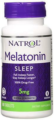 Vegetarian tablets Natrol  STRESS RELIEF SLEEP AID 5 mg 100t time release .