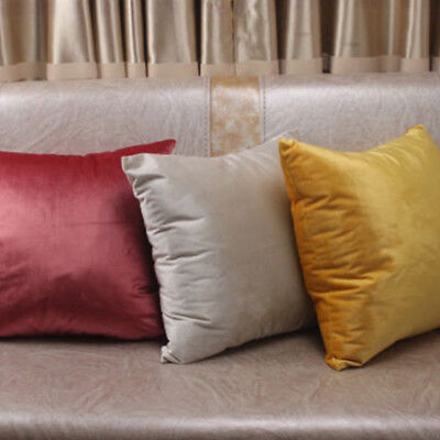 Pillow Covers Cases Solid Colors Luxury Velvet Cushion Cover Decorative Soft CHK