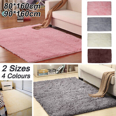 Fluffy Rugs Anti-Skid Shaggy Area Rug Dining Room Carpet Floors Mat Home Bedroom