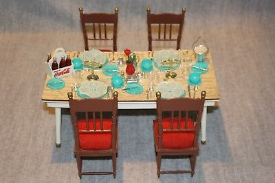 Marx Little Hostess Vintage Doll Boxed Dining Table, Chairs & Accessories Set