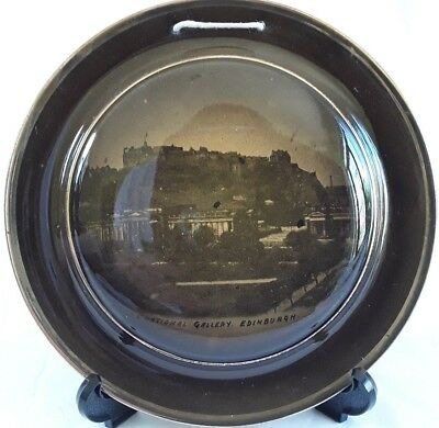 Ridgway (s), Edinburgh Castle & National Gallery, Wall Hanging Plate, Antique