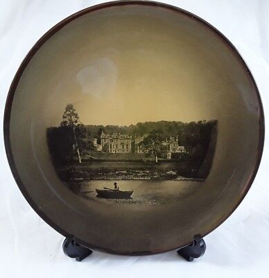 Ridgway (s), Abbotford from the River Plate, Sepia Ware, Antique