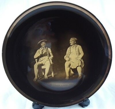 Ridgway (s), Tam o' Shanter & Souter Johnny Wall Hanging Plate, Sepia Ware