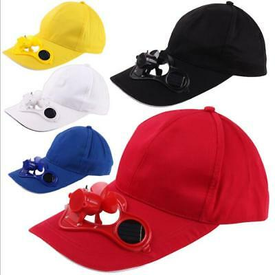 Kids Outdoor Sports Solar Sun Power Hat Cap Cool Fan Golf Baseball Hiking Hat UK