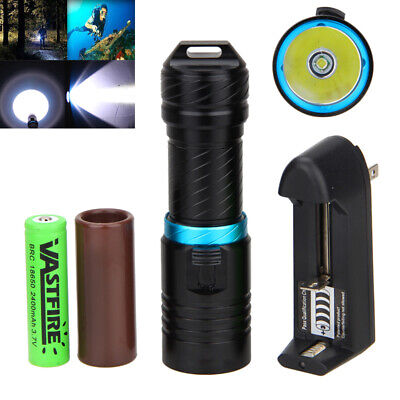 15000LM XM-T6 LED Diving Scuba Flashlight Torch Light 18650 Lamp Underwater