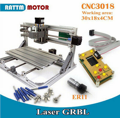 3018 DIY Mini CNC Laser Milling Engraving Machine Router+GRBL Offline Controller