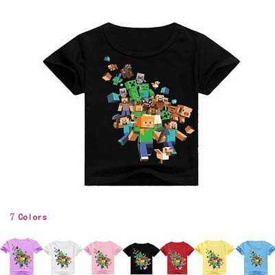 Dan TDM Minecraft Kid's Unisex T-Shirt Size 1-12 Boys Girls AU Shop 100-160cm