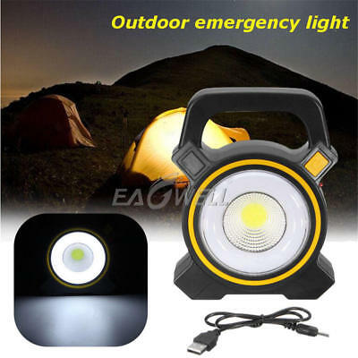 50W Compact Solar COB LED Work Spot Light USB Rechargeable Portable Lamp Hiking