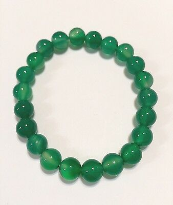 GOOD LUCK  Energy Protection Green Malaysia Jade Stone Beads Bangle Bracelet