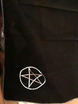 Large Black Wiccan Alter Cloth