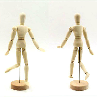 Wooden Manikin Mannequin 12Joint Doll Polish Articulated Household Display