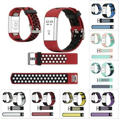 Color Replacement Wristband Strap Watch Band Bracelet Sport For Fitbit Charge2