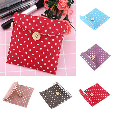C4E5 Lady Linen Sanitary Napkin Towel Pad Small Mini Bags Case Pouch Holder
