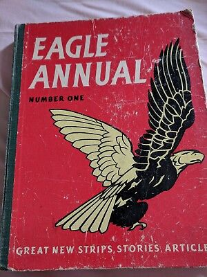 Vintage EAGLE ANNUAL Number one 1951 1952 Poor condition