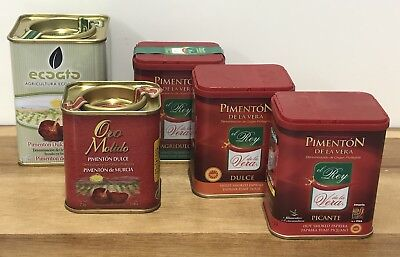 Spanish Pimenton Collection 5 Different Varieties Of Paprika / Smoked Paprika