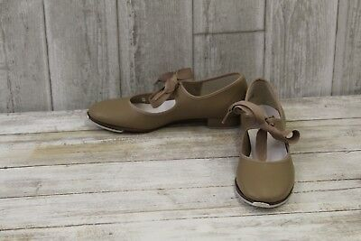 Tempo By Leo's Kids 806W Tap Shoes, Big Girl's Size 4M, Tan