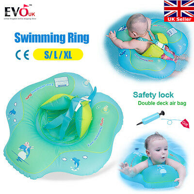 Baby Kids Inflatable Float Swimming Ring Swim Trainer Safety Aid Pool Water Toy
