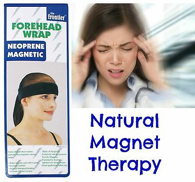 UNISEX Magnetic Healing Forehead Wrap Alternative Therapy for Migraine Pain etc