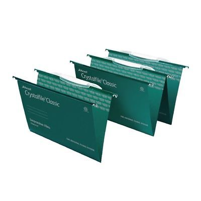 Rexel Crystalfile Classic Foolscap Green Suspension [TW13761]
