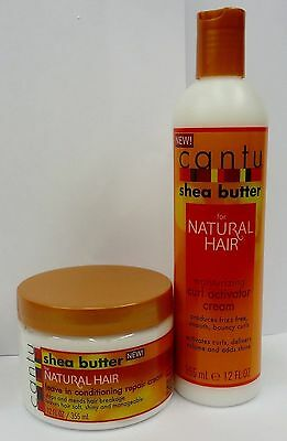 Cantu Shea Butter Natural Hair Curl Activator Cream + Natural Leave In Condition