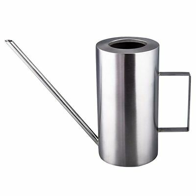 8X(1500mL Stainless Steel Watering Can Long Mouth Round Sprinkling Pot for K6A2)