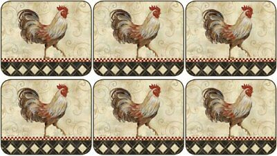 Jason Rooster Sentiment Coasters - Set of 6 by Jason (R2f)