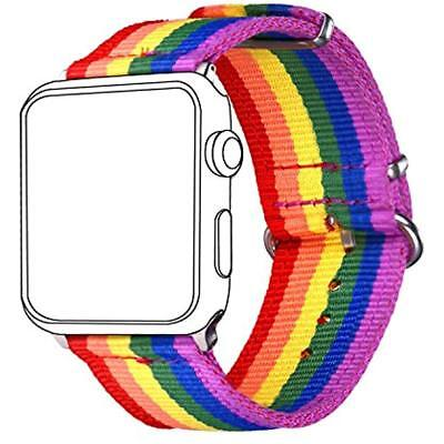 For Apple Watch Band Rainbow LGBT, Strap Comfortable&Durable Nylon Replacement