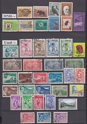Albania - 1957-71 Stamp Accumulation (MNH and Used)
