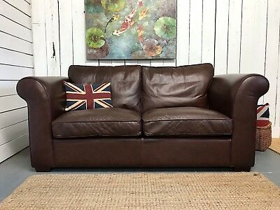 Laura Ashley Leather Sofa The Burgess Brown 2 3 Seater Sofas