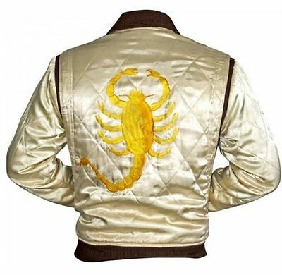 Drive Movie Ryan Gosling Slim Fit Trucker Scorpion Men's Satin Jacket