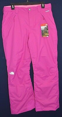 f8cfe04c5 THE NORTH FACE Girls Pink Freedom Insulated Ski Snow Winter Pants XL 18 New  $99