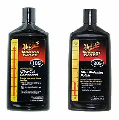 Meguiars M105 (M10508) Paint Compound and Meguiar's M205 (M20508) Paint Polish