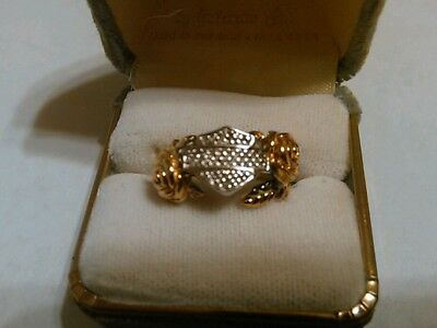 Stamper Harley .925 sz 6.5 ladies ring with gold roses.