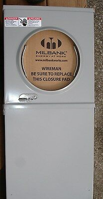 NEW SINGLE MILBANK Mobile Home Metered Service Pedestal 200 ... on