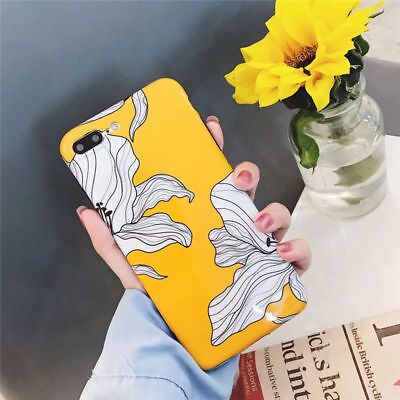 For iPhone 6 6s Plus 7 8 Plus X Luxury Flower Pattern Silicone Phone Case Cover
