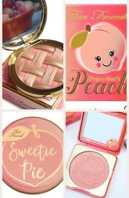 Too Faced Sweetie Pie Radiant Matte Bronzer AND Papa Don't Peach Blush AUTHENTIC