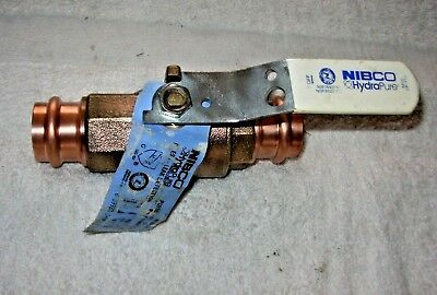 "1"" Brass Ball Valve Press Lead Free Nl Nibco Hydrapure Pc585-80-Lf Propress Ftg"