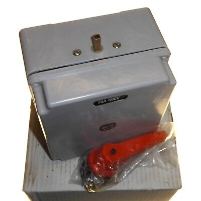 Breter 75 Amp 3 Position Changeover Switch To Generator Supply IP55 Fibreglass
