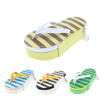 Creative Cute Flip-Flop Shape Pencil Case Pen Makeup Bag Pouch, Leatherette