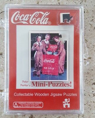 2002 Peter Parker Coca Cola Collectable Mini Wooden Jigsaw Puzzle