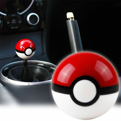 Auto Vehicle Pokemon Pokeball Shape Gear Shift Knob Shifter Handle Universal