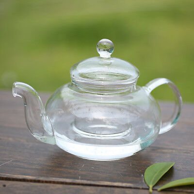 Heat Resistant Bottle Cup Glass Teapot with Infuser Tea Leaf Herbal Home Office