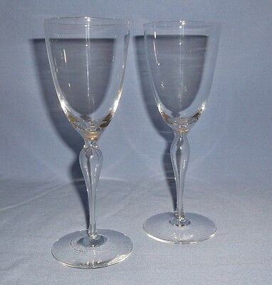 ELEGANT MOUTH BLOWN CRYSTAL CORDIAL GLASSES - Hollow Stem - Set of 2