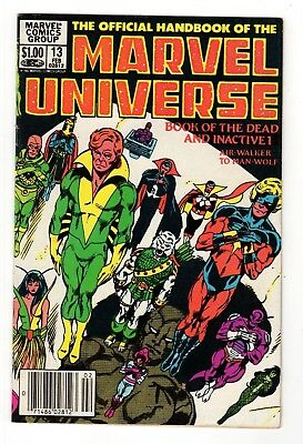 Marvel Comics The Official Handbook of the Marvel Universe #13 Copper Age