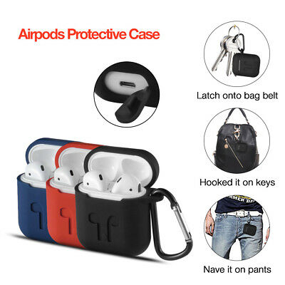 New AirPods Silicone Case Cover Protective Skin for Apple Airpod Charging Case